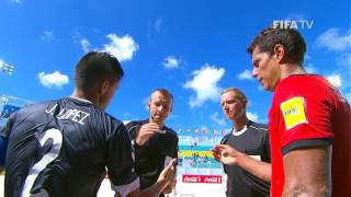 Watch quarter-final highlights of the match between Paraguay and Tahiti from the FIFA Beach Soccer World Cup in the Bahamas.