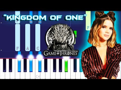 Maren Morris - Kingdom Of One Piano Tutorial EASY (Game Of Thrones)