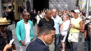 Jay Z and Kanye West go shopping together in New York