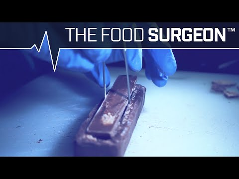 The Food Surgeon Implants a Kit Kat Spine Into the Back of an Innocent Three Musketeers