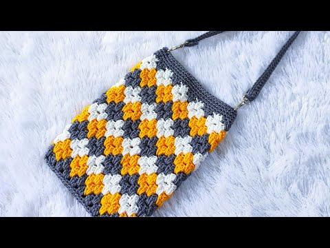 Dompet Rajut Model Terbaru    ||  Crochet Sling Bag