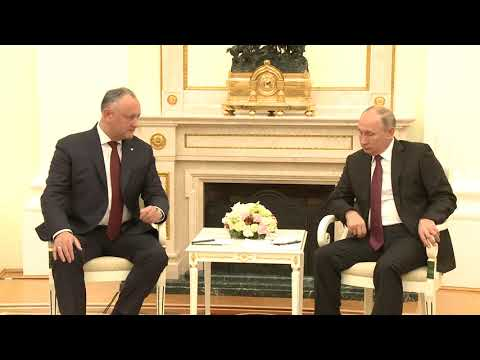 Президент Республики Молдова Игорь Додон провел встречу с Президентом Российской Федерации Владимиром Путиным