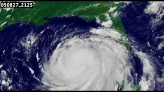 GOES Satellite Animation of Hurricane Katrina