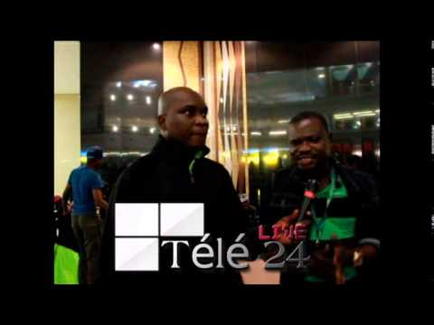 TÉLÉ 24 LIVE: L' arrivée de l' AS VITA CLUB à Aéroport international OR Tambo  en AFRIQUE DU SUD