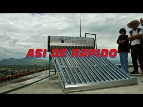 Así de rapido es instalar un calentador solar