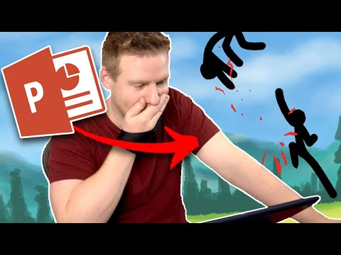 Animating in Microsoft POWER POINT - It's ACTUALLY GREAT!?!