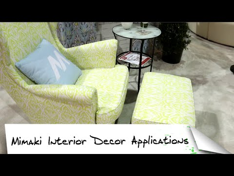 Mimaki Interior Decor Application at SGIA 2015
