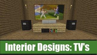 Minecraft Interior Designs: TV Ideas
