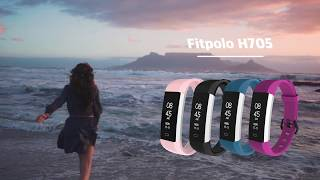 waterproof IP67 exercise smart health monitoring band youtube video