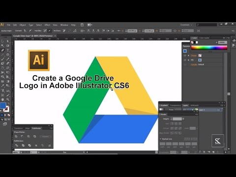 Create A Google Drive Logo In Adobe Illustrator CS6
