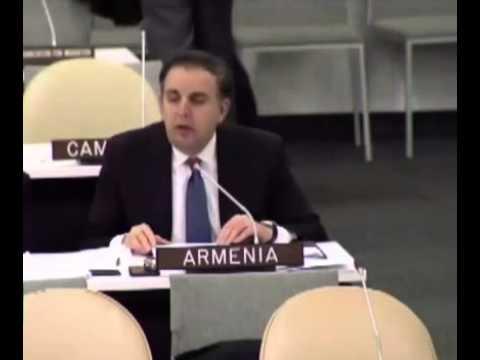 Армения - за Россию! на Генассамблее ООН по Украине 27.03.2014 (видео)