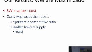 Welfare and Profit Maximization with Production Costs - Yishay Mansour