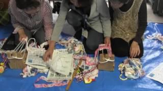 布ぞうり作り講習会を開催・小弓の庄