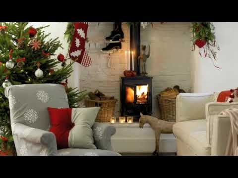 Step inside a modern country-style home that's dressed for Christmas
