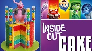 INSIDE OUT Cake | Disney Inside Out Rainbow Cake | My Cupcake Addiction