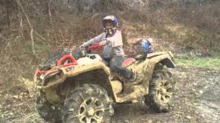 6. 2016 can am XMR 1000R with yoshimura slip on playing in the mud