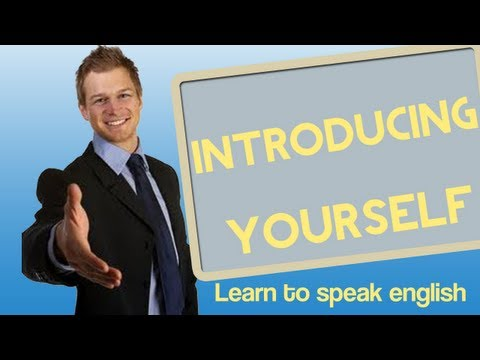 introduce - How would you introduce yourself in English when you meet somebody? Tell them things like what you do, how old you are, and what are your hobbies? In this le...