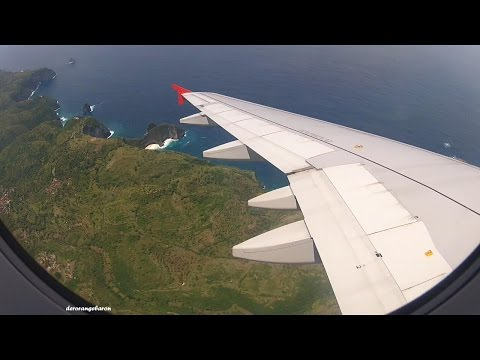 Awesome landing in Bali / Denpasar with Indonesia AirAsia - Airbus A320 PK-AXX