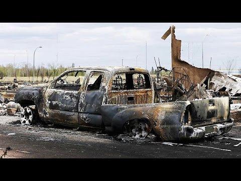 Καναδάς: Οι καταστροφές από την πύρινη λαίλαπα στο Φορτ ΜακΜάρεϊ