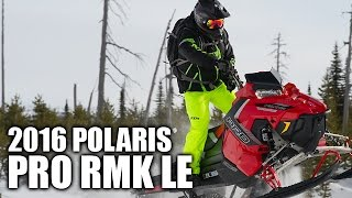 1. TEST RIDE: 2016 Polaris 800 Pro RMK LE 163