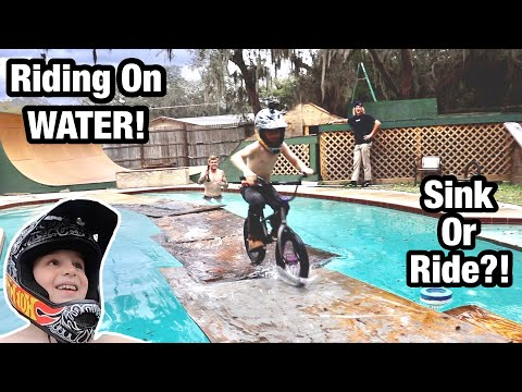 Riding My Bike Across Water! Sink or Ride?!