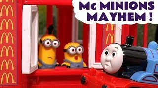 Thomas The Tank Engine Minions McDonalds Drive Thru Mayhem Burger Fire Rescue - Toy s for kids TT4U