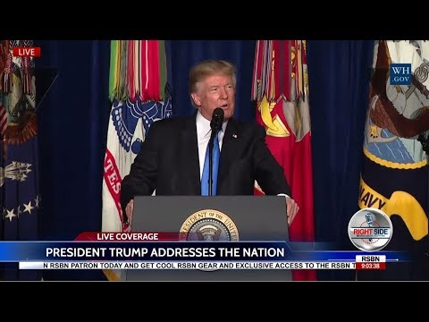 LIVE STREAM: President Trump Addresses the Nation on Afghanistan 8/21/17