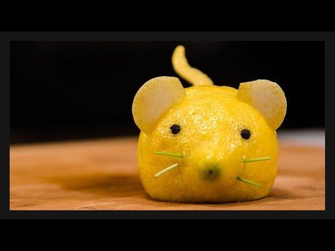 come creare un topolino con un limone