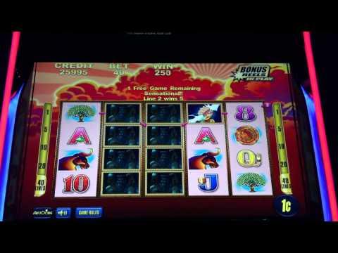 Aristocrat THUNDER OF ZEUS Slot Machine Bonus at Revel Atlantic City