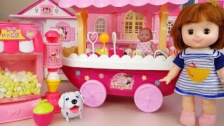 Video Baby doll Ice cream car and popcorn play doh toys with baby house MP3, 3GP, MP4, WEBM, AVI, FLV Mei 2017