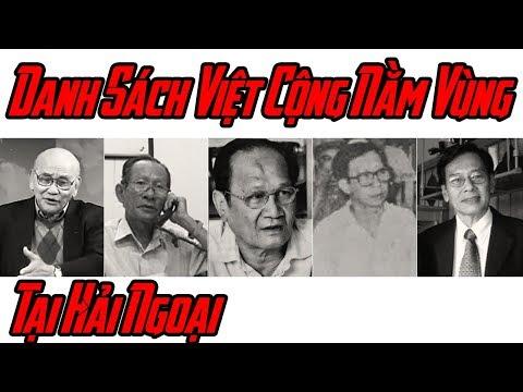 Tiết Lộ Danh Sách Việt Cộng Nằm Vùng Ở Hải Ngoại
