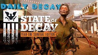 ➜Daily Decay New Episode Everyday at 12am (Except when live streamed on Sundays) Sorry had to change the time back to 12am as it was difficult to maintain consistency 12am is much easier and I can ensure I upload everyday. State of Decay is an action-adventure survival horror stealth video game developed by Undead Labs and published by Microsoft Studios. It places emphasis on how the player's leaderships skills fare against an onslaught of problems, such as diminishing survival resources, group trust and morale, zombie extermination, base defenses, and people's lives. The game also combines elements of shooters, stealth, role-playing and strategy games and the game challenges players to survive by exploring, scavenging, and fighting the undead.It was first released for the Xbox 360 on June 5, 2013 and was met with positive reviews. A Microsoft Windows version was released on September 20, 2013 via Steam's Early Access,[8] with an official release following on November 5, 2013. A remastered version called the Year-One Survival Edition was released on April 28, 2015 for Microsoft Windows and Xbox One with mixed reviews.State of Decay 2 was announced at Xbox's E3 2016. The game, which introduces cooperative multiplayer, is set for release in 2017.State of Decay 2 is an upcoming survival video game developed by Undead Labs and published by Microsoft Studios. It is a sequel to the 2013 video game State of Decay. The game is scheduled to be released in 2017 for Windows 10 and the Xbox One video game console.➜ Welcome to Team Xtreme Daily Decay Series. This series is exclusively dedicated to State of Decay and it's upcoming Sequel. The plan for this series is to upload daily content with commentary for State of Decay. My upload schedule is as follows roughly a 15 to 20 min video every day of State of Decay or it's sequel. On days that I plan to live stream State of Decay there will be no upload but instead a live stream. If I miss a day or two then I will upload a video pe