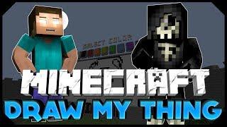 "Minecraft: DRAW MY THING | ""MOST INTERESTING DRAWINGS"" W/ AciDic BliTzz&Taz! (Mini-Game)"