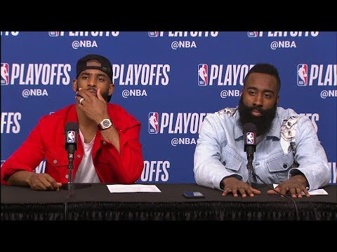 James Harden & Chris Paul Postgame Interview | Jazz Vs Rockets - Game 2 | May 2 | 2018 NBA Playoffs