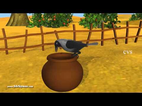 Video Ek Kauwa Pyaasa tha Poem - 3D Animation Hindi Nursery Rhymes for Children with Lyrics download in MP3, 3GP, MP4, WEBM, AVI, FLV January 2017