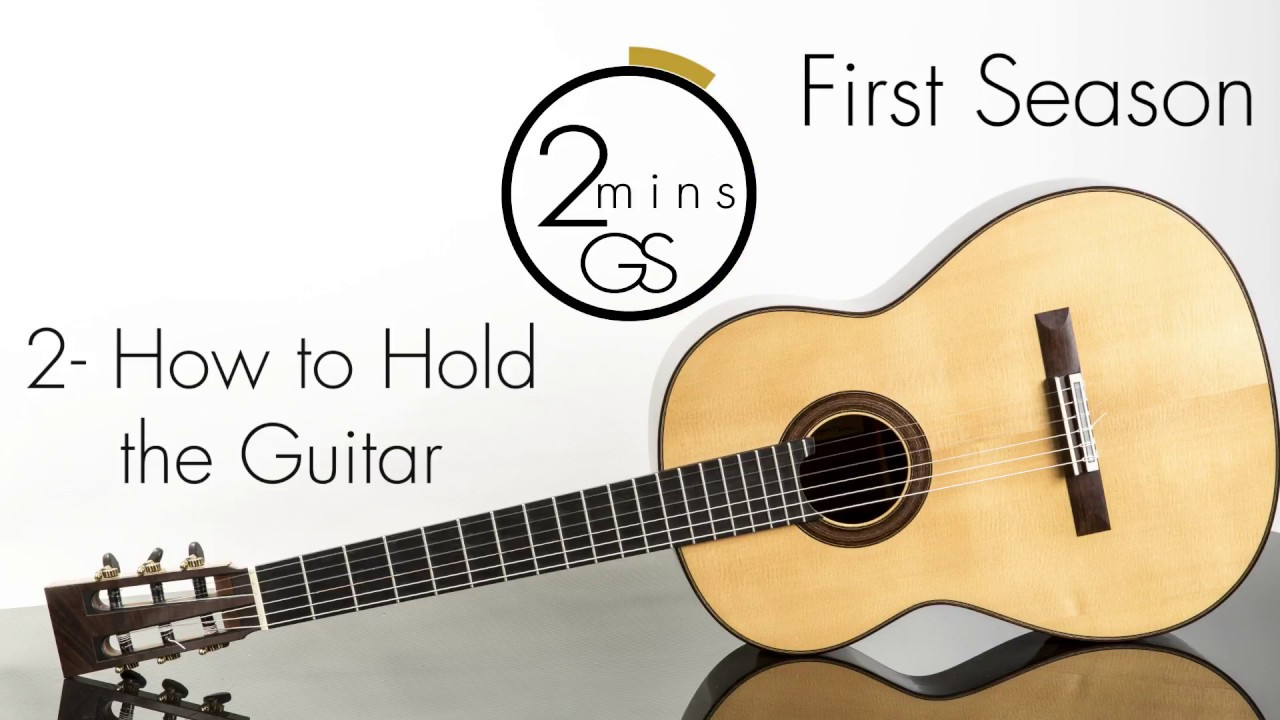 "2 – How to Hold the Guitar – ""2 Minutes Guitar School"" – How to Play Guitar-Beginners (Tutorials)"