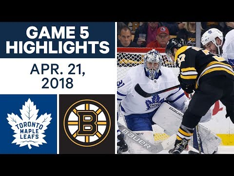 NHL Highlights  Maple Leafs vs. Bruins, Game 5 - Apr. 21, 2018