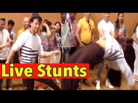 Tiger Shroff Performs Live Stunts For Cancer Patie