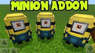 "Minecraft Pocket Edition "" MINIONS "" PE // MCPE 1.0 - MINION Addon and Behavior Pack! (MCPE MINIONS)"