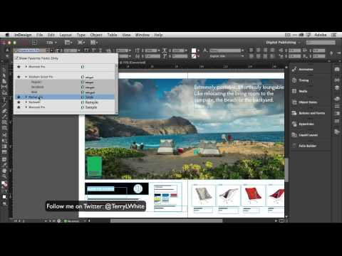 Adobe - Terry White gives a 1st look at the NEW Adobe InDesign CC and shares his Top 5 Favorite features.