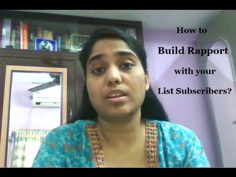 Watch 'How To Build Rapport With Your List Subscribers - YouTube'