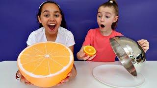 Video Giant Squishy Food VS Real Food Challenge | Toys AndMe MP3, 3GP, MP4, WEBM, AVI, FLV September 2018