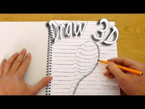 How to Draw 3D Objects That Appear to Be Coming Off of the Paper Using