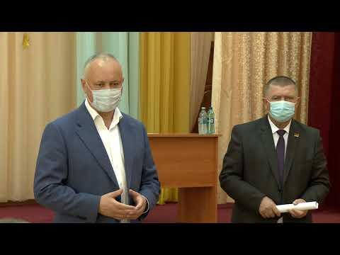 Igor Dodon s-a familiarizat cu situația social-economică din raionul Ștefan Vodă