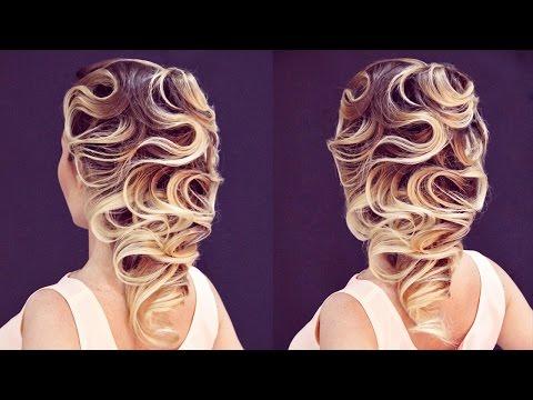 Причёски с элементами волны