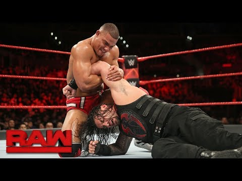Roman Reigns vs. Jason Jordan - Intercontinental Championship Match: Raw, Dec. 4, 2017