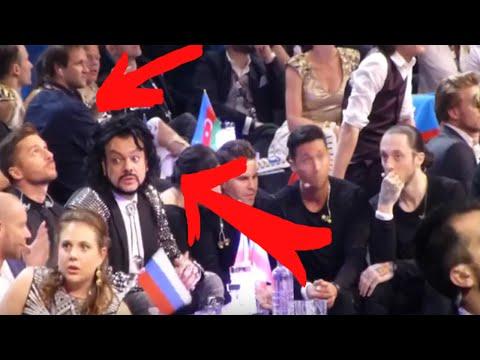 Сергей Лазарев переживает финал Евровидения 2016 (другой ракурс) (видео)