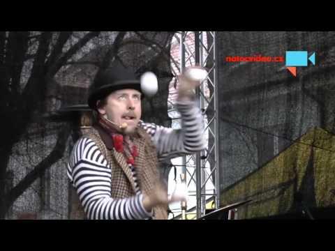 Vánoční jarmark 4. 12. 2015 v Boskovicích. Díl třetí - Komedianti na káře