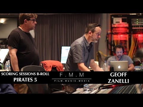 Pirates 5 Scoring Sessions With Geoff Zanelli - B-Roll (видео)