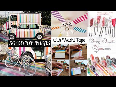 56 Decor ideas with washi tape